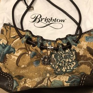 Brighton cloth and leather pocketbook